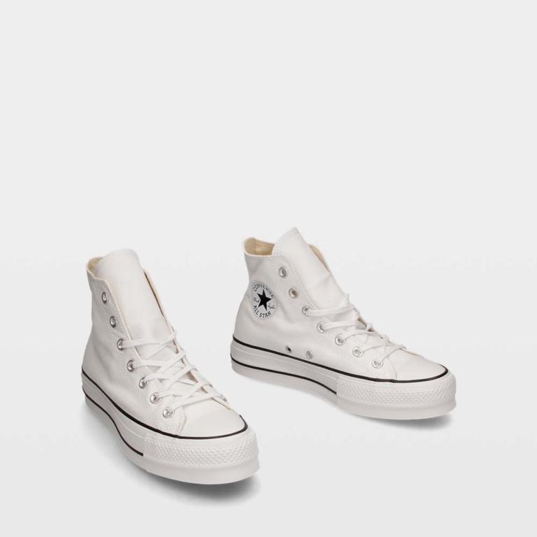 22718de23 ... de lona negro blanco 1c0b1 b69a1  usa ulanka zapatillas converse chuck  taylor all star lift high top 8dbbb 90a4f