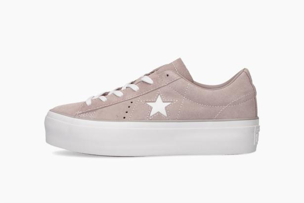 One Star Platform Suede Low Top